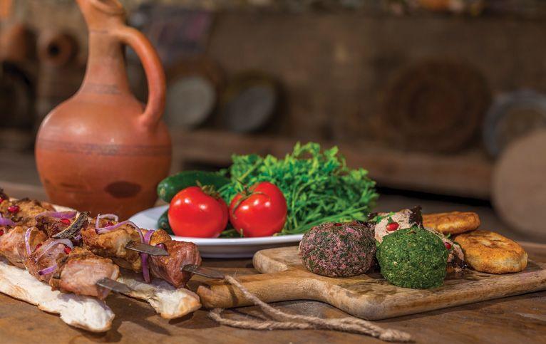 Kombination von Wein und Essen, Georgische Weine und Gerichte