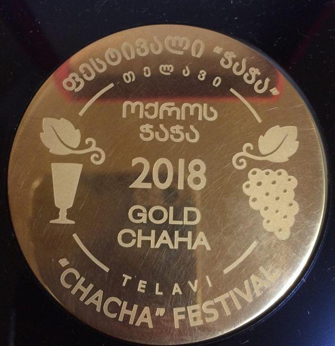 Tschatscha - Grappa in Georgisch; Goldmedaille des Festivals